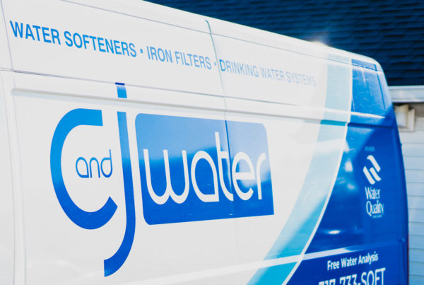 C and J Water Company Van